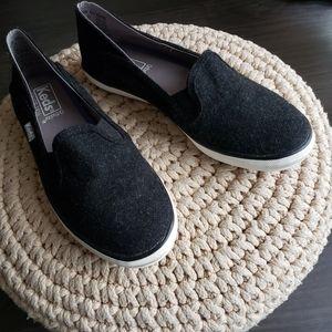 Keds ortholite Size 5.5 felted black shoes